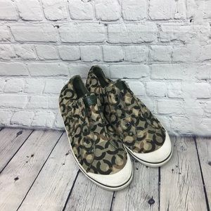 Coach Keely Green Tennis Shoes Size 9.5B